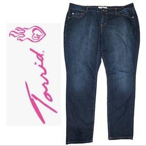 Torrid Curvy Skinny Jeans Sz 18S